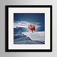 billige Innrammet kunst-Landskap Innrammet Lerret / Innrammet Sett Wall Art,PVC Svart Passpertou Inkludert med Frame Wall Art