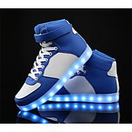 baratos Sapatos de Menino-Para Meninos Sapatos Pele / Couro Ecológico Primavera Conforto / Tênis com LED Tênis para Branco / Preto / Azul