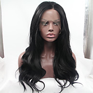 Sylvia Glueless Synthetic Lace front Wig Natural Black Heat Resistant Long Natural Wave Synthetic Wigs