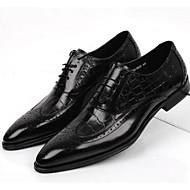 baratos Sapatos Masculinos-Homens sapatos Pele Conforto Oxfords para Casamento Escritório e Carreira Preto café