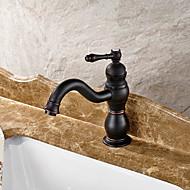 Μπάνιο βρύση νεροχύτη - Εκτεταμένο Λαδωμένο Μπρούντζινο Αναμεικτικές με ενιαίες βαλβίδες Ενιαία Χειριστείτε μια τρύπαBath Taps