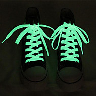 LED Light Up Fabric for Shoelaces  Blue / Yellow / Green / Pink / White