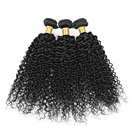 3 bundles Brazilian Kinky Curly  Human Hair Weave Extensions 300g Full Head Set 8inch-28inch
