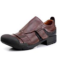 tanie Obuwie męskie-Męskie Skórzane buty Skóra nappa Wiosna / Lato / Jesień Oksfordki Dark Brown / Impreza / bankiet