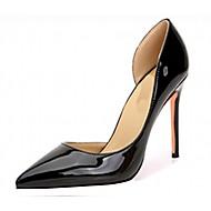 baratos Sapatos de Tamanho Pequeno-Mulheres Sapatos Couro Envernizado / Microfibra Primavera / Verão Conforto / Chanel Saltos Salto Agulha / Plataforma Dedo Apontado / Laço