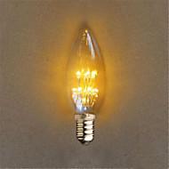 halpa LED-lamput-1kpl 40lm E14 Sisustusvalaisimet C35 20 LED-helmet Upotettu LED Koristeltu Keltainen 220-240V