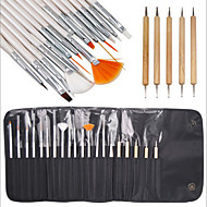 15pcs köröm tervezés festés rajz toll ecsettel készlet 5db pontozás marbleizing toll eszköz