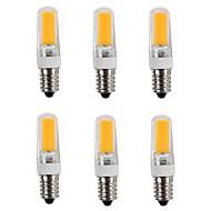 billige Spotlys med LED-6pcs 3200lm E14 LED-lamper med G-sokkel T 1 LED perler COB Varm hvit Kjølig hvit 220-240V
