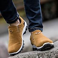 お買い得  メンズ アスレチックシューズ-男性用 靴 PUレザー 春 秋 前かがみのブーツ コンフォートシューズ アスレチック・シューズ ハイキング のために カジュアル ブラック グレー イエロー ブルー