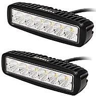 kawell® 18w levou barra de luz de 90 graus feixe de luz de inundação para Quadriciclo / Jeep / Barco / SUV / caminhão / carro / ATVs luz