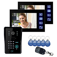 "cheap -Touch Key 7"" Lcd Video Door Phone Intercom System Wth IR Camera & Code Keypad 1V2"