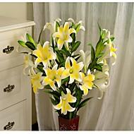 1 Gren Plastikk Andre Liljer Andre Gulvblomst Kunstige blomster
