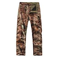 Jagtbukser m. camouflagemønster Herre / Dame Vandtæt / Hold Varm / Påførelig camouflage Vinter Fleece / Softshell Bukser for Ski / Campering & Vandring / Jagt