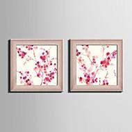 Blomstret/Botanisk / Dyr Innrammet Lerret / Innrammet Sett Wall Art,PVC Materiale Rød Ingen Passpartou med Frame For Hjem Dekor Frame Art