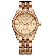 Kadın's Bilek Saati Sahte Elmas Saat Quartz Taşlı / Alaşım Bant İhtişam Işıltılı Havalı Gümüş Altın Rengi Gül Altın