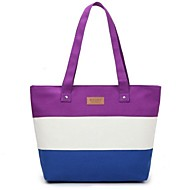 Women Bags Canvas Tote for Casual White Purple Peach Light Blue