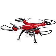 Χαμηλού Κόστους SYMA®-RC Ρομποτάκι SYMA X8HW 4 Kανάλια 6 άξονα 2,4 G Με κάμερα HD 5.0MP 1920*1080 Ελικόπτερο RC με τέσσερις έλικες Φώτα LED / Επιστροφή με ένα