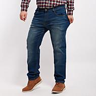 Homens Tamanhos Grandes Jeans Calças - Sólido
