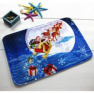 billige Gulvtepper-1pc tilfeldige husholdningsartikler har en festlig stemning jul balneal soverom sklisikker matte