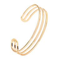 Mulheres Bracelete Pulseiras Algema Aberto Ajustável Liga Jóias Casamento Festa Aniversário Graduação O negócio Presente Casual Jóias de