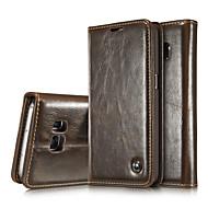 Para Samsung Galaxy Note Porta-Cartão / Carteira / Com Suporte / Flip Capinha Corpo Inteiro Capinha Cor Única Couro Legitimo SamsungNote