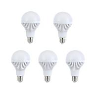 お買い得  LEDボール型電球-5個 330-360lm E26 / E27 LEDボール型電球 A60(A19) 15 LEDビーズ SMD 5630 装飾用 温白色 / ナチュラルホワイト 220-240V