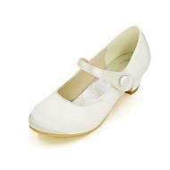 お買い得  ティーン向けハイヒール-女の子 靴 シルク 春夏 ヒール のために ブルー / ライトブラウン / クリスタル / 結婚式 / パーティー
