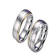 Žene Prstenje za parove Klasično prstenje Jewelry Moda Simple Style Zircon Kubični Zirconia Titanium Steel Jewelry Za Dnevno Kauzalni