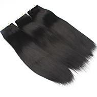 100% lidské vlasy páska na prodlužování vlasů kůže útek rovné vlasy 20ks / pack