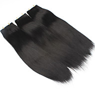100% Menschenhaar Band in Haarverlängerungen einschlag Haut glattes Haar 20pcs / pack