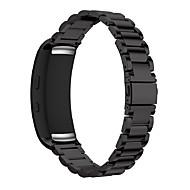 Klockarmband för Gear Fit 2 Samsung Galaxy Sportband Rostfritt stål Handledsrem
