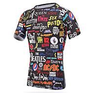 Unisex Rund hals Løbe-T-shirt Sport T-Shirt / Toppe Kortærmet Sportstøj Hurtigtørrende, Åndbart Elastisk