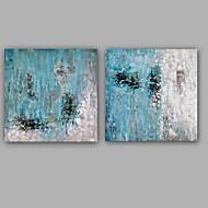 billiga Oljemålningar-Hang målad oljemålning HANDMÅLAD - Abstrakt Europeisk Stil Moderna Duk