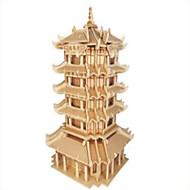 Χαμηλού Κόστους Παζλ 3D-Ξύλινα παζλ Παιχνίδια Fighter Διάσημο κτίριο Κινεζική αρχιτεκτονική επαγγελματικό Επίπεδο Ξύλο Αγορίστικα Κοριτσίστικα 1 Κομμάτια
