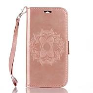 billiga Mobil cases & Skärmskydd-fodral Till HTC Korthållare Plånbok med stativ Lucka Läderplastik Fodral Mandala Hårt PU läder för HTC One M8