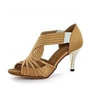 olcso -Személyre szabható-Tűsarok-Szatén-Latin Dzsessz Salsa Swing-cipők-Női