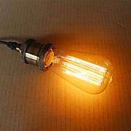 e27 60w st58 straight wire edison nippel wolfram kunst belysning dekorasjon lyskilde