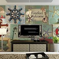 billige Tapet-Art Deco / 3D Bakgrunn For Hjem Land Tapetsering , Lerret Materiale selvklebende nødvendig Mural , Room wallcovering