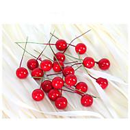 2cm 20pcs pequena simulação de romã fruta de bagas flor artificial vermelho cereja natal festa de casamento estame festival decoração
