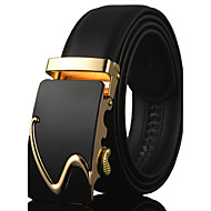 Men's Luxury Gold / Silver Automatic Buckle Waist Belt Work/Casual Alloy/Leather All Seasons