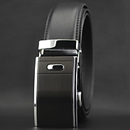 Men Luxury Automatic Buckle Business Waist Belt Work / Casual Alloy / Leather Black All Seasons