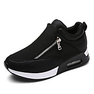Women's Athletic Shoes Spring Fall Winter Platform Comfort Leatherette Outdoor Casual Athletic Platform Black Red Gray Walking