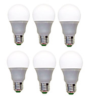 billige Globepærer med LED-6pcs 1200lm E26 / E27 LED-globepærer A60(A19) 12 LED perler SMD 2835 Dekorativ Varm hvit Kjølig hvit 220-240V