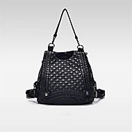 女性 バッグ オールシーズン レザーレット バックパック とともに のために ショッピング カジュアル ブラック