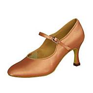 billige Moderne sko-Dame Latin Jazz Moderne Salsa Swingsko Sateng Sandaler Høye hæler Trening Nybegynner Profesjonell Innendørs Opptreden Draperinger Spenne
