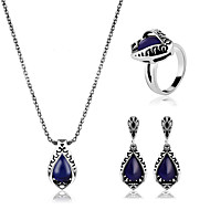 Women's Synthetic Sapphire Jewelry Set Ladies, Classic, European Include Blue For Party Daily Casual / Rings