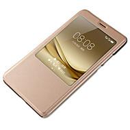 billiga Mobil cases & Skärmskydd-fodral Till huawei P9 Huawei Mate S Huawei P9 Lite Huawei P8 Huawei Huawei P9 Plus Huawei P8 Lite Huawei Mate 8 Huawei Mate 7 med fönster