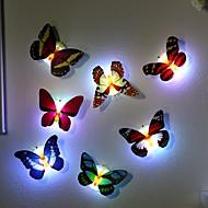 billiga Belysning-1pc ledd ljus natt atmosfär lampa med färgglatt växlande fjäril inomhus ljus med sugkudde hem party skrivbord väggdekoration