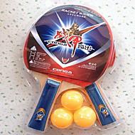 baratos Tenis de Mesa-Ping Pang / Tabela raquetes de tênis Madeira Cabo Comprido / Espinhas Cabo Comprido / Espinhas 2 Raquete / 3 Bolas para Tênis de Mesa -