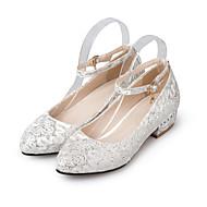 baratos Sapatos de Tamanho Pequeno-Feminino-SaltosSalto Baixo-Vermelho Branco-Gliter-Casamento Casual Festas & Noite